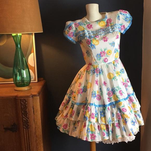 Vintage Dresses & Skirts - Vintage Square Dance Dress
